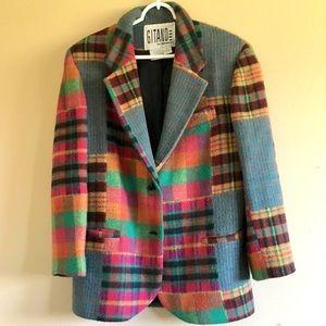Gitano thick colorful plaid blazer